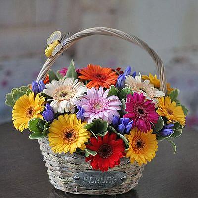 Корзина цветов Солнечная
