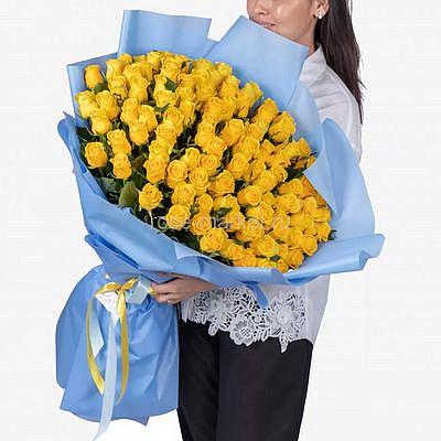 "Букет ""Солнце Любви"" 51 роза"